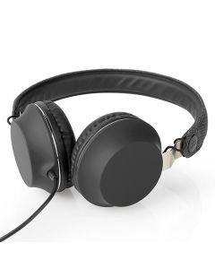Hörlur NEDIS Tygmaterial On-Ear Svart