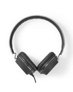 Hörlur NEDIS Tygmaterial On-Ear Grå