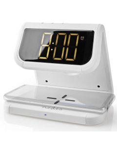 Väckarklocka NEDIS QI-Laddare Vit