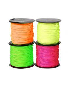 Paracordrem tunn neonfärger 4/fp