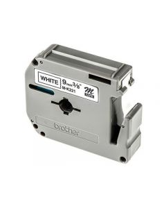 Tape BROTHER MK221 9mm svart på vit