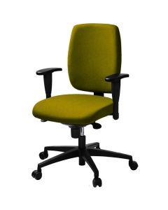 Kontorsstol LD6135 grön m armstöd