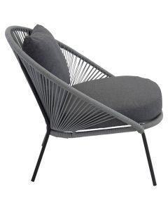 Stol Lindos Lounge svart/grå