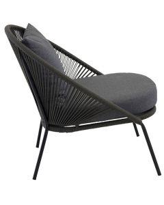Stol Lindos Lounge svart/svart