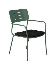 Stol Nicke m/armstöd grön