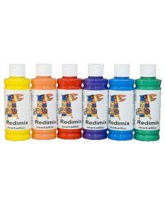 Readymix metallic 250ml x 6 färger