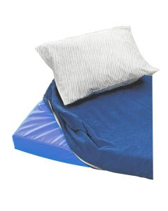 Madrassöverdrag blå  55x115x5