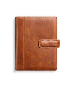 Mini Systemkalender skinn brun - 4179