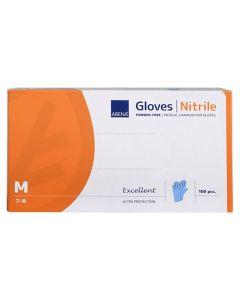 Handske nitril Puderfri blå M 100/FP