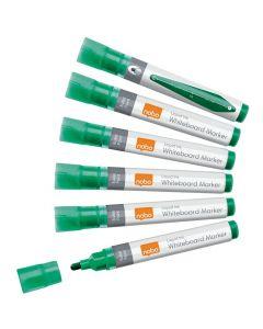 Whiteboardpenna NOBO Liq rund grön 10/FP