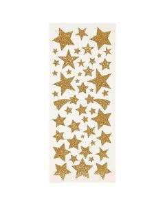 Glitterstickers guld stjärnor 110/fp