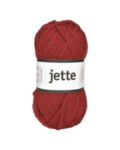 Ullgarn Jette 50g röd,