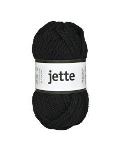 Ullgarn Jette 50g svart