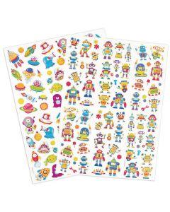 Stickers robotar rymdfigurer 154/fp