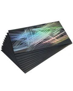 Regnbågs- & skrapkartong 152x101m 10ark/FP