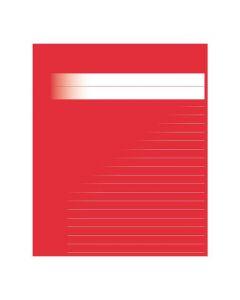 Skrivhäfte A5 ½ sida linj 14,5mm röd