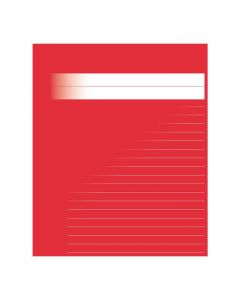 Skrivhäfte A4 linjerat 8,5mm röd