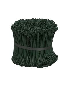 Säcktråd plastad grön 15cm lång 1000/FP
