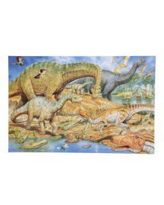 Golvpussel dinosaurier 60x40cm