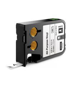 Tape DYMO XTL 12mm Sva på Vit 7m 1868751