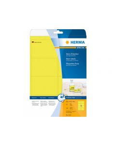 Etikett HERMA Neon gul 99,1x67,7mm 160/FP