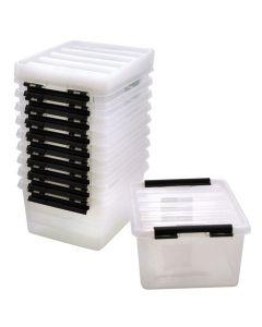 Förvaringsbox 2 liter transparent lock 10/FP