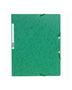 Gummibandsmapp EXACOMPTA 400g A4 grön