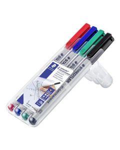 Box med 4 pennor LUMOCOLOR SF VL