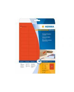 Etikett HERMA Färg röd 45,7x21,2mm 960/FP