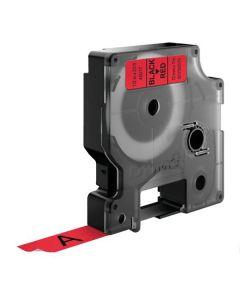 Tape D1 12mm Svart på Röd