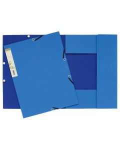 Gummibandsmapp FOREVER kartong 3-kl blå