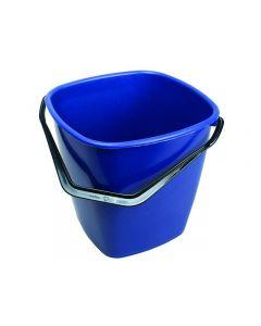 Hink fyrkantig blå 9,5 liter