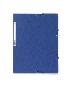 Gummibandsmapp EXACOMPTA 3-klaff A4 blå