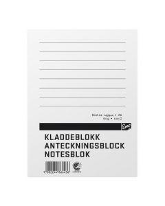 Anteckningsblock A6 100 blad linjerat