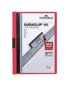 Klämmapp Duraclip 2200 A4 3mm röd