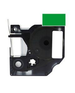 Tape D1 24mm Svart på Grön