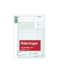 Blankett räkning utan kopia A5 50 blad