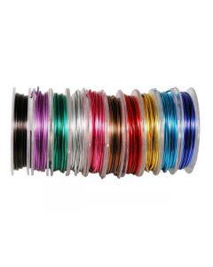 Aluminiumtråd 3mx10 färger