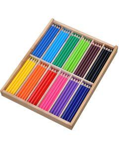 Färgpenna Jumbo trekantig 12x12 färger