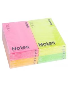 Notes STAPLES 76x127mm neon