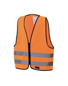Reflexväst med dragkedja Barn-S Orange