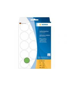 Etikett HERMA Allround 32mm grön 480/FP