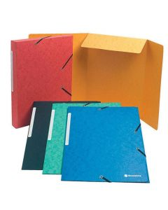 Gummibandsmapp 3-klap A4 600g olika färg