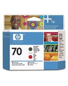 Skrivhuvud HP C9409A 70 Mattsvart/Röd