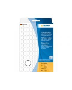 Etikett HERMA Allround 8x12mm vit 3840/FP