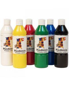 Readymix färglära 500ml x 6 färger