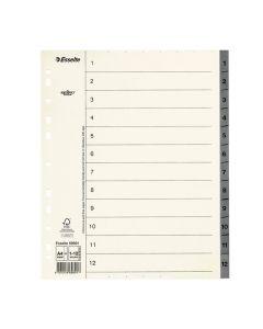 Pappregister System Servo A4+ 1-12 grå