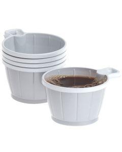 Kaffekopp plast 21cl silver/vit 50/FP
