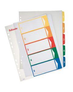 Plastregister Projektindex A4+ 1-5