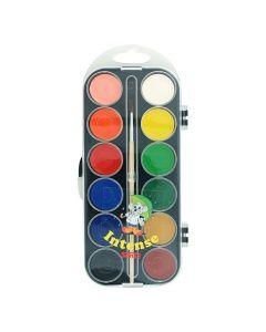 Vattenfärglåda basfärg 12 färger